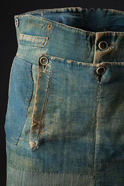 Denim Fashion Frontier, emma mcclendon long john blog jeans denim authentic workwear 1840 old vintage museum collector item pateched repair (6)