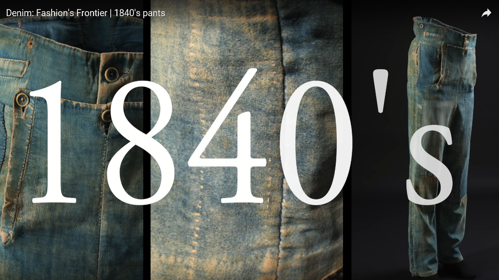 Denim Fashion's Frontier  1840's pants long john blog jeans denim workwear old authentic (11)
