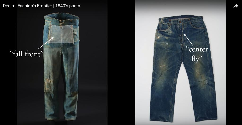 Denim Fashion's Frontier  1840's pants long john blog jeans denim workwear old authentic (4)