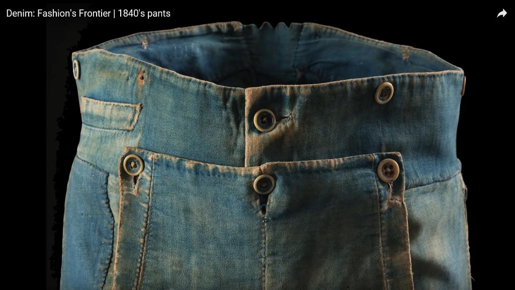 Denim Fashion's Frontier  1840's pants long john blog jeans denim workwear old authentic (6)