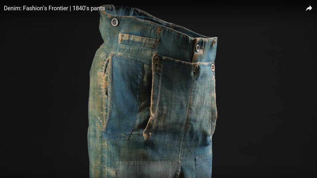 Denim Fashion's Frontier  1840's pants long john blog jeans denim workwear old authentic (8)