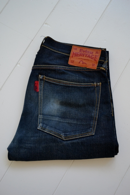 Evisu Jeans japan long john blog wouter munnichs private collection red tab selvage selvedge right hand fabric tribute to levi's lee wrangler blue rigid unwashed raw worn-out special edition (2)