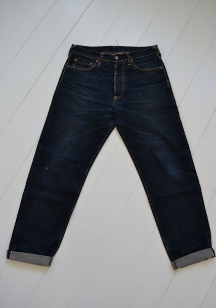 Evisu Jeans japan long john blog wouter munnichs private collection red tab selvage selvedge right hand fabric tribute to levi's lee wrangler blue rigid unwashed raw worn-out special edition (4)