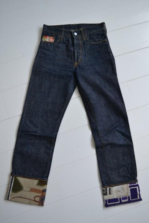 0516dfc010f0 Evisu Jeans Made With Vintage Japanese Kimono Fabric - Long John