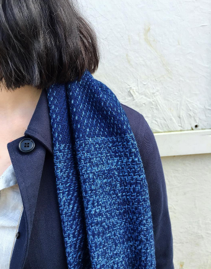 Hollie Ward denim jeans designer handloom long john blog blue indigo pants scarf handmade uk england special limited edition  (1)