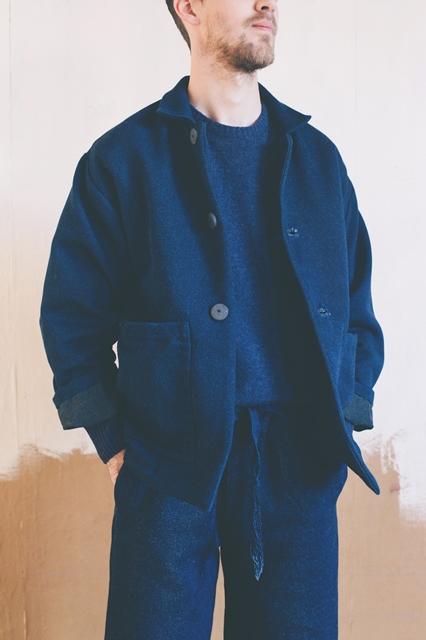 Hollie Ward denim jeans designer handloom long john blog blue indigo pants scarf handmade uk england special limited edition  (2)