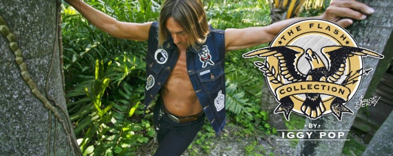 Iggy Pop sailor jerry collab collaboration long john blog denim vest jeans blue raw rigid patches tattoo made in usa la limited edition special 2014 bikers biker music rock and roll 50 pieces only (1)