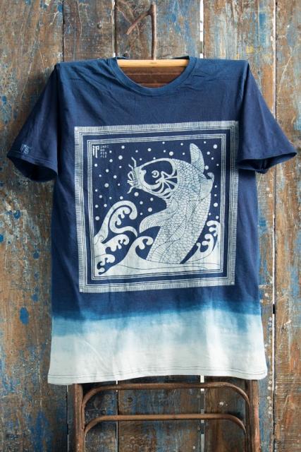 Indigo People Fall 2016 long john blog shirts bow tie bandana blue jeans denim workwear workwear tshirts  (9)