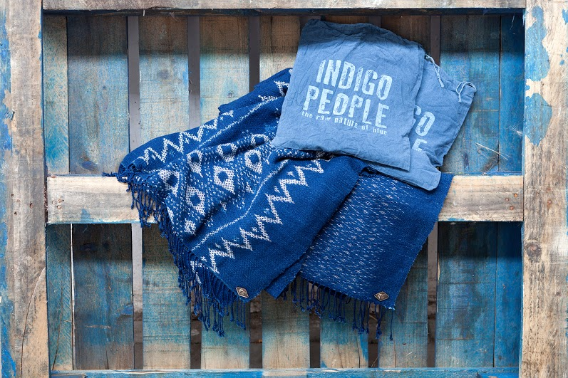 Indigo People scarfs long john blog handmade holland amsterdam blue worn jeans denim toile de chine clothing vintage authentic dyed natural indigo special edition anniversary  (2)