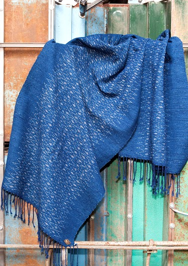 Indigo People scarfs long john blog handmade holland amsterdam blue worn jeans denim toile de chine clothing vintage authentic dyed natural indigo special edition anniversary  (5)