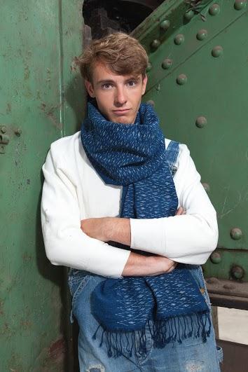 Indigo People scarfs long john blog handmade holland amsterdam blue worn jeans denim toile de chine clothing vintage authentic dyed natural indigo special edition anniversary  (8)