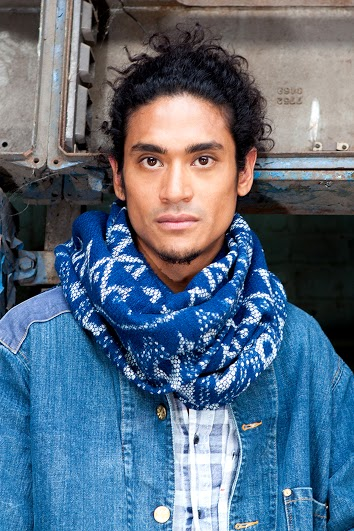 Indigo People scarfs long john blog handmade holland amsterdam blue worn jeans denim toile de chine clothing vintage authentic dyed natural indigo special edition anniversary  (9)
