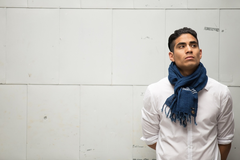 Indigo People x Denham_Tsuru long john blog rigid raw scarf shawl holland handmade blue indigo  (7)