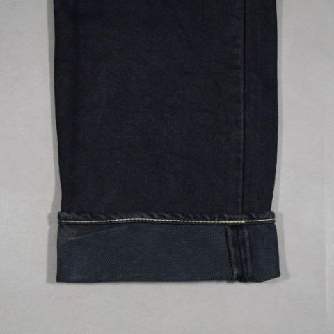 Iron Heart jeans IH-634S raw black selvage selvedge long john blog 5 pocket japan straight rigid ring ring denim raw unwashed leather natural tanned label berlin burg und schild store shop  (4)