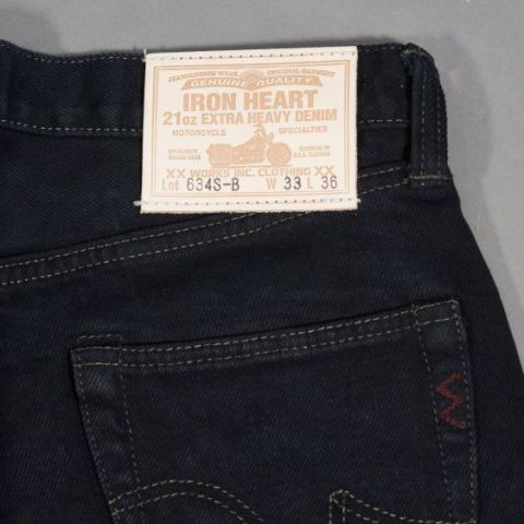 Iron Heart jeans IH-634S raw black selvage selvedge long john blog 5 pocket japan straight rigid ring ring denim raw unwashed leather natural tanned label berlin burg und schild store shop  (7)