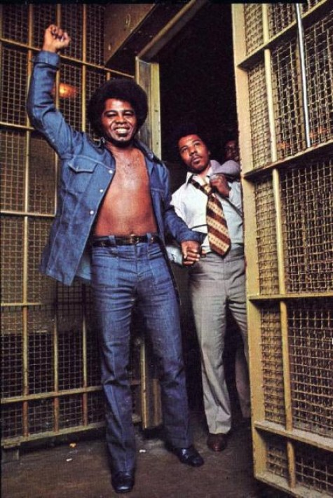 James Brown In Denim On The Cover From In The Jungle
