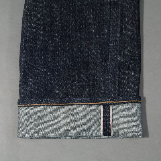 Jelado jeans denim long john denim blue raw rigid selvage selvedge unwashed raw leather patch buttons pockets straight fit (8)