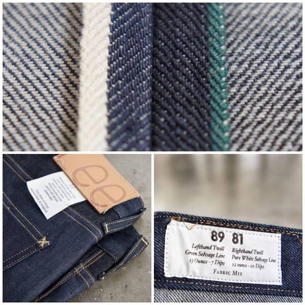 LEE 101 S Slim Rider Dry Fabric Mix 13oz  12oz long john blog raw selvage green plain usa winter 2014 left hand right hand  (1)