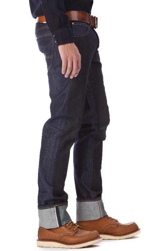 LEE 101 S Slim Rider Dry Fabric Mix 13oz  12oz long john blog raw selvage green plain usa winter 2014 left hand right hand  (3)