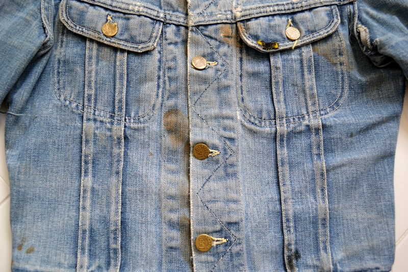 Lee Jeans 101-J 101J jacket jack long john blog denim rider riders worn-out wornout usa 1950 blue label vintage original (10)