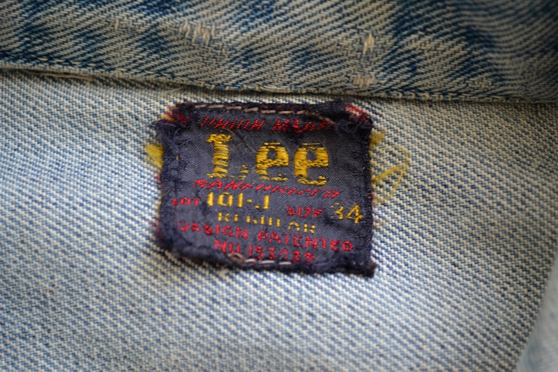 Lee Jeans 101-J 101J jacket jack long john blog denim rider riders worn-out wornout usa 1950 blue label vintage original (5)