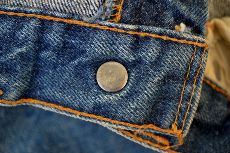 Levi's jeans denim big e BIG E long john blog raw rigid blue selvage selvedge red line button #4 single stich talon zipper 42 wouter munnichs usa vintage 1960 old kids jean train tracks (11)