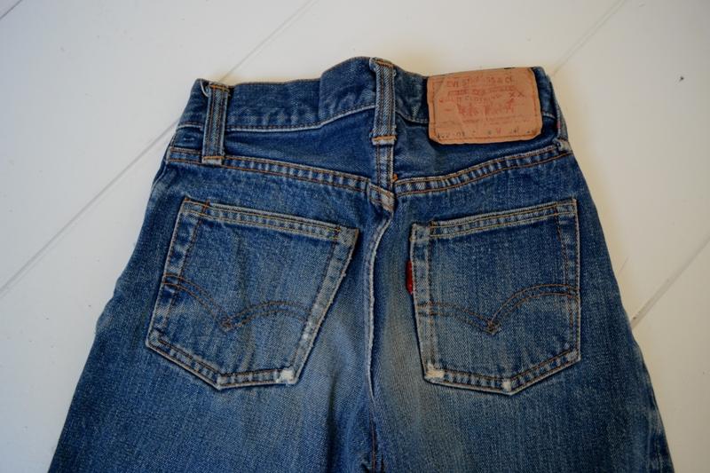 Levi's jeans denim big e BIG E long john blog raw rigid blue selvage selvedge red line button #4 single stich talon zipper 42 wouter munnichs usa vintage 1960 old kids jean train tracks (14)