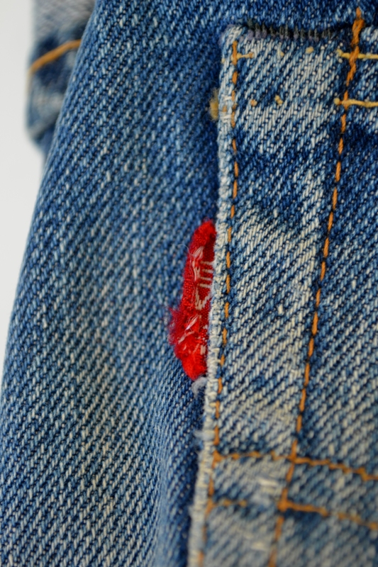 Levi's jeans denim big e BIG E long john blog raw rigid blue selvage selvedge red line button #4 single stich talon zipper 42 wouter munnichs usa vintage 1960 old kids jean train tracks (4)