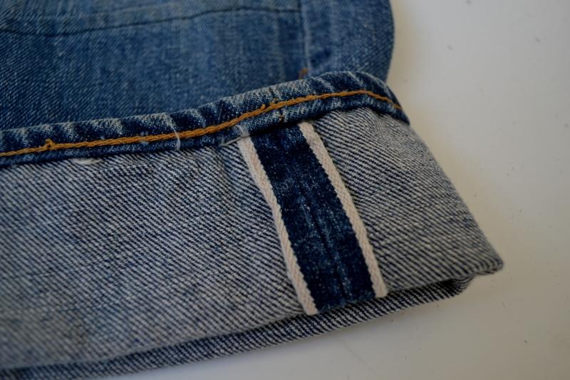 Levi's jeans denim big e BIG E long john blog raw rigid blue selvage selvedge red line button #4 single stich talon zipper 42 wouter munnichs usa vintage 1960 old kids jean train tracks (8)