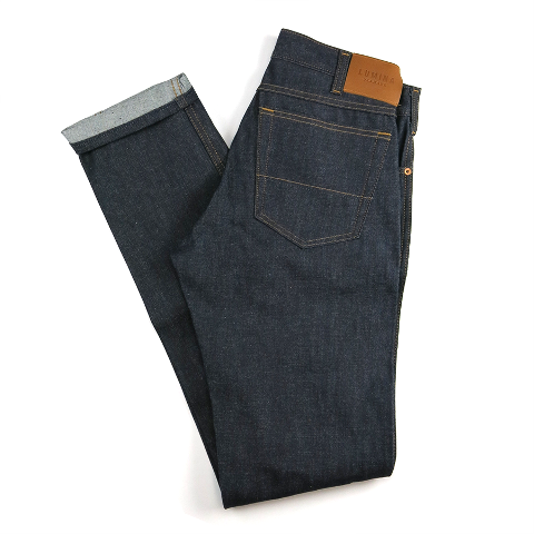 Lumina jeans denim long john blog spijkerbroek blue indigo unwashed cone mills mill conedenim usa american made leather patch label rigid raw (1)