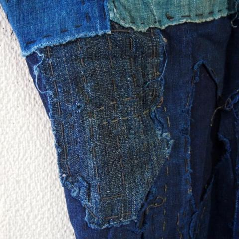 Momohiki, Japanese Boro Indigo Cotton WorkerLaborer Trousers long john blog blue indigo blauw authentic antiek oud origineel original farmer  (10)
