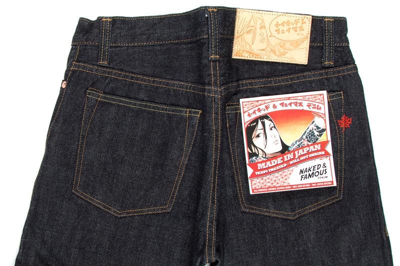 Naked & Famous Denim MIJ (Made in Japan long john blog alvin lee denim jeans collabo blue special edition 2015 canada selvage selvedge unwashed rigid pocket flasher comic designer  (11)