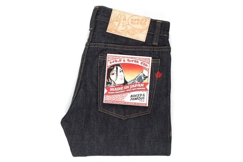 Naked & Famous Denim MIJ (Made in Japan long john blog alvin lee denim jeans collabo blue special edition 2015 canada selvage selvedge unwashed rigid pocket flasher comic designer  (9)