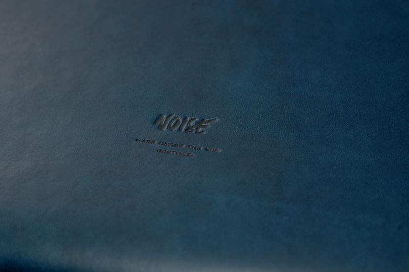 Noise goods indigo folio A4 clutch long john blog blue portugal natural tanned leather handmade europe denim jeans new paper bag big wallet canvas wool inner pocket (9)