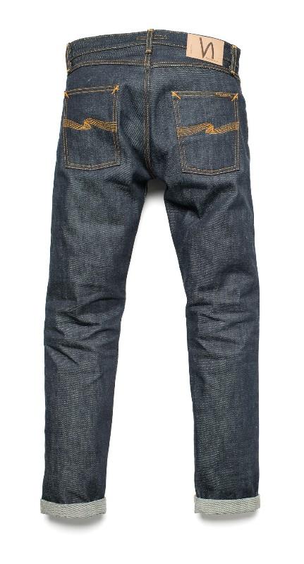 Nudie Jeans Presents Steady Eddie Dry 18oz Heavy Japan Selvage long john blog sweden blue raw rigid selvedge japan spijkerbroek blauw ongewassen maria zwaarste denim leather patch leer  (2)
