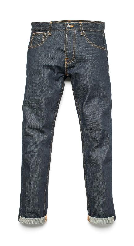 Nudie Jeans Presents Steady Eddie Dry 18oz Heavy Japan Selvage long john blog sweden blue raw rigid selvedge japan spijkerbroek blauw ongewassen maria zwaarste denim leather patch leer  (7)