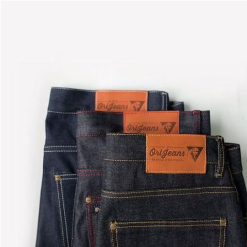 OriJeans Ori jeans denim long john blog raw rigid handmade pre-order custom made custommade usa us cone mills selvage selvage red line five pocket 5 pocket leather patch skinny fit straight  (5)