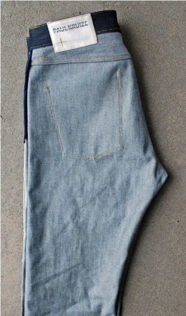 Paul Kruize 16.7oz cone mills fabric handmade long john blog custom made enschede holland jeans denim raw selvage selvedge red line 5 pocket blue rigid coin pocket joke seams button fly straight leg  (6)