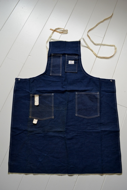 Sears union made selvage selvedge long john blog blue rigid raw american 1950 deadstock usa apron schort deadstock long john green new old  (1)