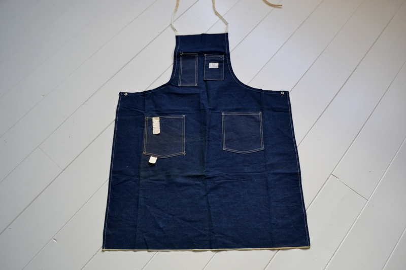 Sears union made selvage selvedge long john blog blue rigid raw american 1950 deadstock usa apron schort deadstock long john green new old  (2)