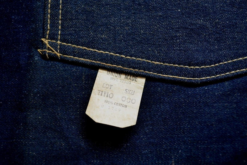 Sears union made selvage selvedge long john blog blue rigid raw american 1950 deadstock usa apron schort deadstock long john green new old  (8)