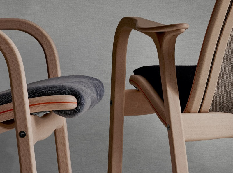 Swedish furniture producer Swedese long john blog nudie jeans denim sweden chair collabo collaboration wood wooden natural selvage selvedge handmade limited edition 2015  (3)