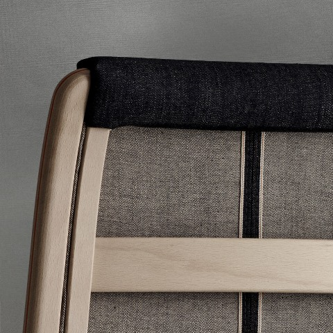 Swedish furniture producer Swedese long john blog nudie jeans denim sweden chair collabo collaboration wood wooden natural selvage selvedge handmade limited edition 2015  (7)