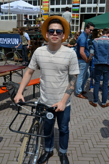 The denim run eindhoven holland long john blog wing mok emiel gerardu south of holland bikers bicycle customized fixies ketelhuis bbq strijp-s part 2 second edition wheels denim people denimheads blue raw rigid  ( (16)