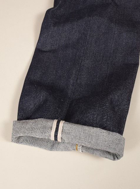 Universal works jeans denim selvage britisch long john blog blue rigid raw 5 pocket worn-out unwashed washed cinch back patch plain selvedge uk  (1)