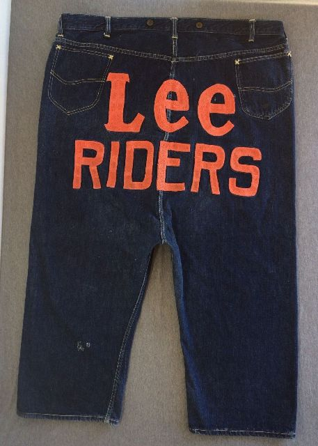 Vintage LEE jeans 40s Union Made Denim Selvedge Donut Sewn RIDERS long john ebay auction 2014 usa selvage selvedge old rodeo clown jeans 5 pocket lee riders western cowboy (4)