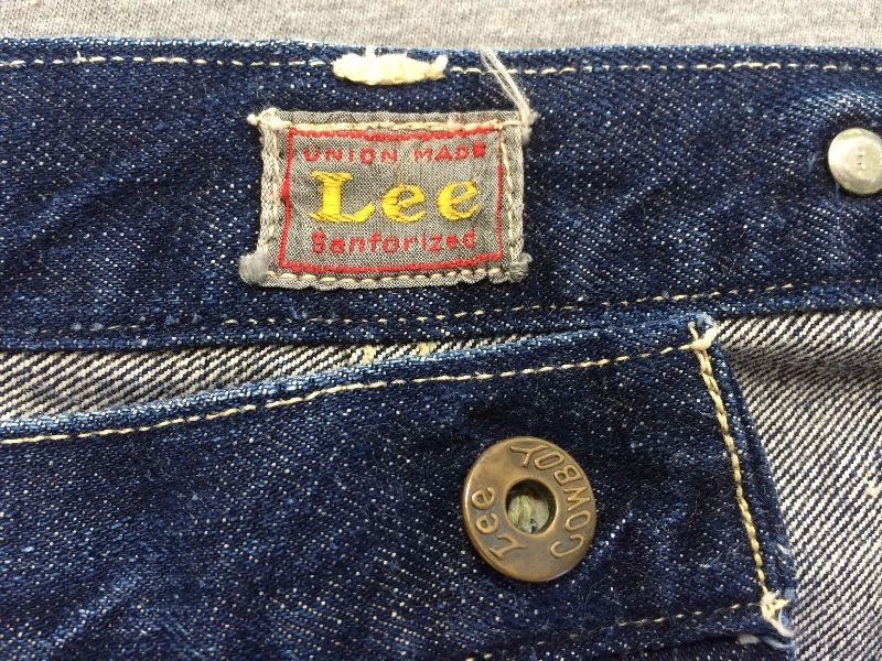 Vintage LEE jeans 40s Union Made Denim Selvedge Donut Sewn RIDERS long john ebay auction 2014 usa selvage selvedge old rodeo clown jeans 5 pocket lee riders western cowboy (6)