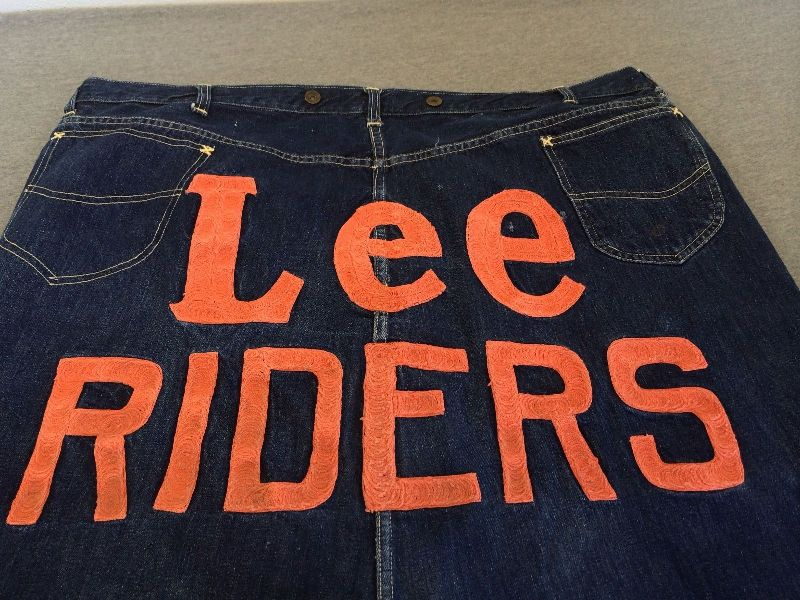 Vintage LEE jeans 40s Union Made Denim Selvedge Donut Sewn RIDERS long john ebay auction 2014 usa selvage selvedge old rodeo clown jeans 5 pocket lee riders western cowboy (8)