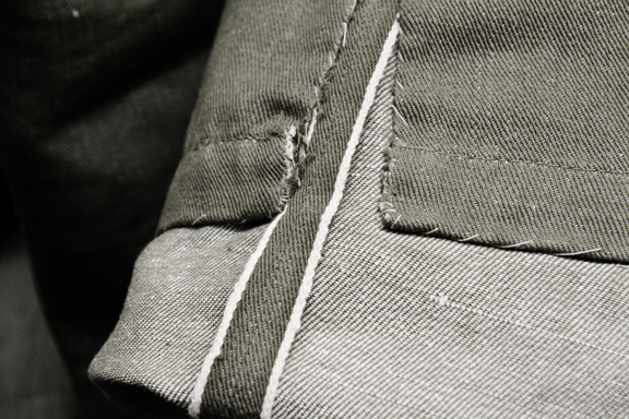 army jeans selvage white green fabric long john blog the vintage showroom deadstock london uk england new condition selvedge line limited  (3)
