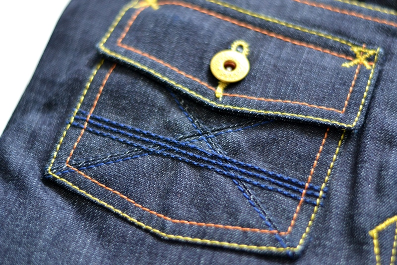 atelier ladurance long john blog kiddies jeans denim gerard backx blue rigid raw non-selvage worker workwear repair bullit leather patch forties square pockets japanese fabric (6)